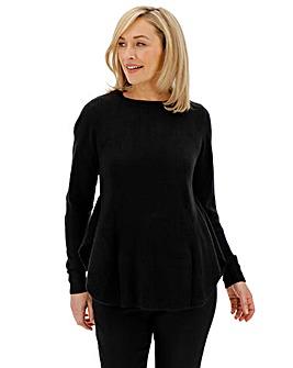 Black Cashmere Like Peplum Jumper