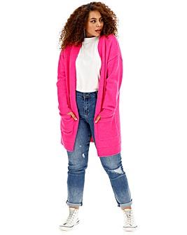 Cosy Bright Pink Cardigan