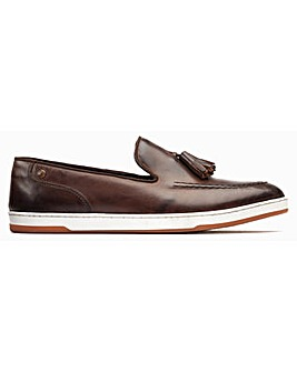 Base London Pogo Burnished Slip On Loafer
