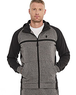 Grey Marl Tech Hoody Long