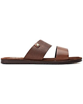 Base London Julius Waxy Slip On Sandal