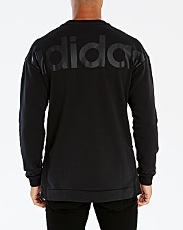 adidas Back Logo Oversized Crew Sweat