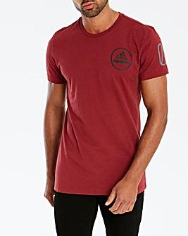 adidas 360 Back Print T-Shirt