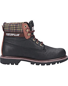 CAT Lifestyle Colorado Plaid Lace Up Boot
