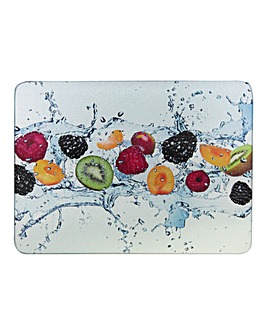 Glass Worktop Saver Fruits Pack of 2