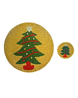 Christmas Tree 2 Placemats & 2 Coasters