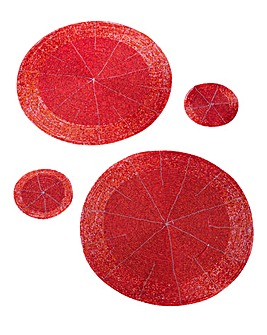 Beaded Round 2 Placemats & 2 Coasters