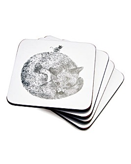 Pimpernel Let's Go Wild! Set 4 Coasters