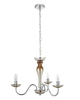 Sasha Champagne Glass Ceiling Light