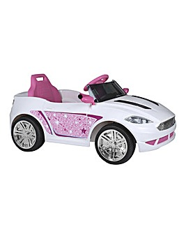 EVO 6 Volt B.O Convertible Car - Pink