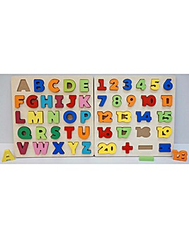 First Learning 3D Wooden Letters & Numbers