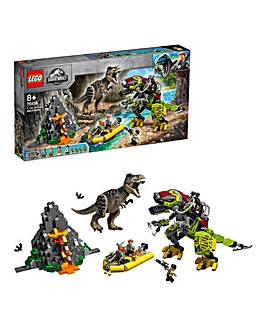 LEGO JW T-Rex vs Dino-Mech Battle