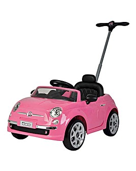 Fiat 500 Push/Ride-On - Pink