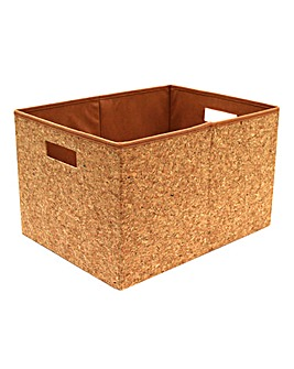 Rectangular Cork Foldable Box Large