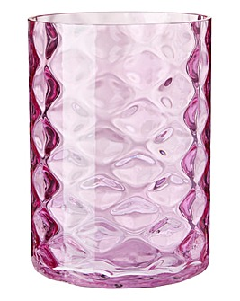 Geometric Blush Glass Vase