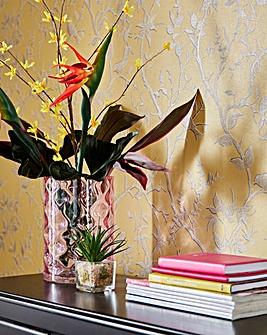 Geometric Blush Glass Vase