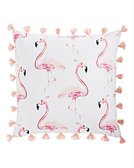 Flamingo Tassel Cushion