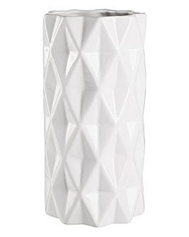 White Origami Vase
