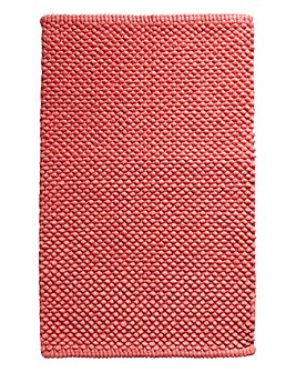 Cotton Bobble Bath Mat Coral