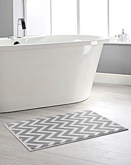 Dip & Drip Bath Mats - Chevron