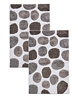 Set of 2 Spot Bath Mats