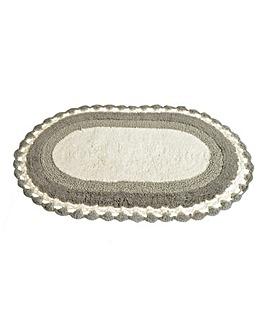Lauren Crochet Bath Mat- Silver