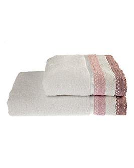 Lauren Crochet Towel Range- Heather