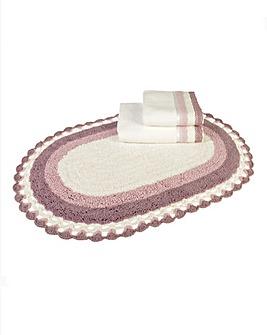 Lauren Crochet Bath Mat- Heather