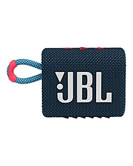 JBL Go 3 Speaker - Blue/Pink