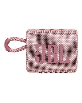 JBL Go 3 Speaker - Pink
