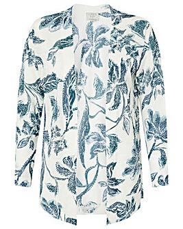 Monsoon Balinese Print Linen Cardigan