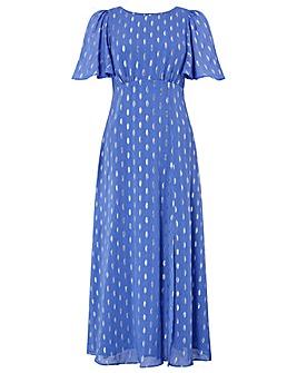 Monsoon Ann Fabric Lurex Tea Dress
