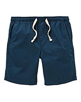 W&B Navy Elasticated Shorts