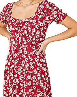 Monsoon Everly Floral Print Jersey Dress