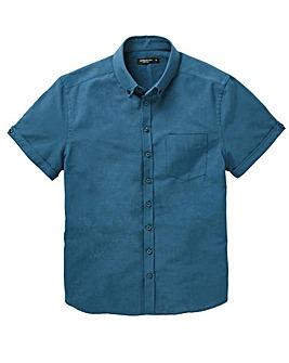 Capsule Petrol S/S Oxford Shirt L