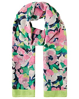 Monsoon LARGE FLORAL LIGHTWEIGHT SCARF