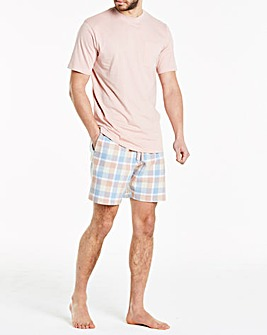 Pink Check Short Pyjama Set