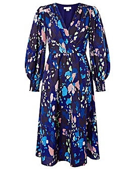 Monsoon Anita Animal Wrap Dress