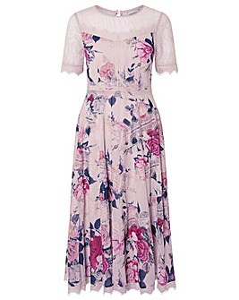 Monsoon Millicent Printed Lace Dress