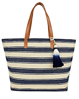Accessorize NAUTICAL STRIPE BEACH TOTE