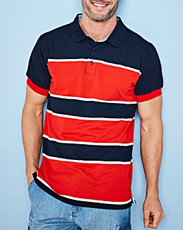 W&B Red Stripe Polo Shirt R