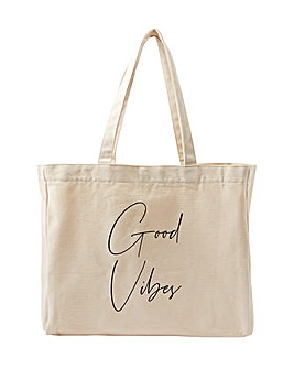 Accessorize GOOD VIBES SLOGAN SHOPPER