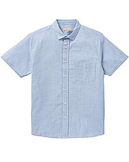 W&B Blue Stripe Seersucker Shirt L
