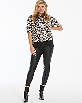 Leopard Print Double Layer Blouse