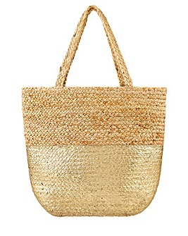 Accessorize Sarah Metallic Beach Tote