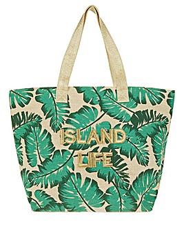 Accessorize Island Life Palm tote