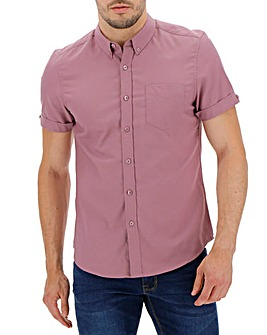 Dusky Pink Short Sleeve Oxford Shirt