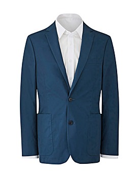 W&B Blue Cotton Stretch Blazer Regular