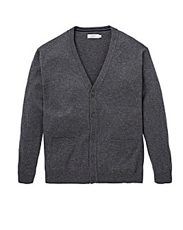 W&B Charcoal Wool Mix Button Cardigan Regular