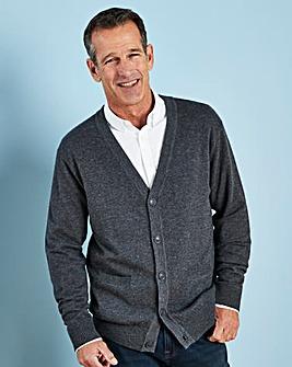 W&B Charcoal Wool Mix Button Cardigan R